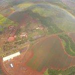 Circle rainbow over Dole plantation