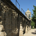 Wall and tower of Old Penitentiary - you can walk right up to it from the botanical garden