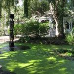Meditation pool and gazebo