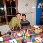 Con Irene festejando mi cumpleaños