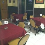 inside air conditioned dining room