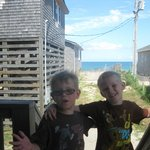 My boys on the deck of room 3A