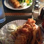 Fish and Chips and Fish and a Salad