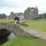 Swilcan Bridge with Royal & Ancient Golf Clubhouse and Hamilton Hall(Grand ).