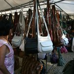 Lots of leather goods for sale here