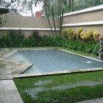pool outside front verandah
