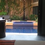 Spa Pool Villa Pool/Jacuzzi view from bedroom