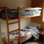 la chambre enfants (possibilité d'un lit double en bas pour 3 enfants)