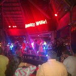 View of the stage and Band Playing! Great live music