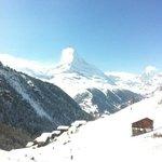 Matterhorn view from terrace