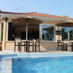 Pool area, bar and outside seating