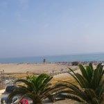 Strand vor dem Hotel