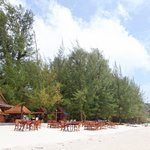 Beach view of the restaurant