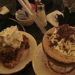 frozzzen hot chocolate & 'BIG' apple pies