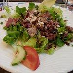 Salade de gésiers - balsamique - amandes