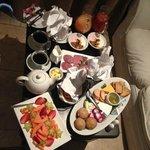 Breakfast in Bed - Just cold stuff, also got warm breakfast