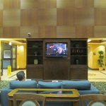 TV in dining area
