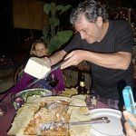Even grating cheese is a passionate event for owner Roberto!