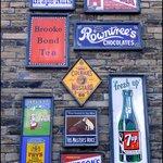 vintage enamel signs