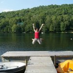 Jumping for Joy while staying @ Le Boise Du Lac
