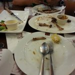 it was soo goood i was only able to take a picture of our wiped out plates... no left overs!