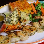 Grilled Lobster, Grilled Shrimp