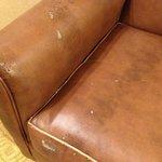 Aged armchair