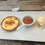 Rhubarb and custard tart at its best