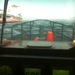 View from inside the simulator.