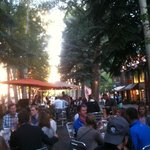 a lovely July evening at Finbarr's in Aspen