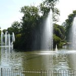 Water display as you enter gardens