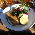 Halibut at Schooner (fabulous)
