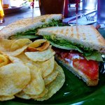 BLAT - Bacon Lettuce Avocado and tomato with chips