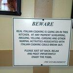 Restaurant's warning !