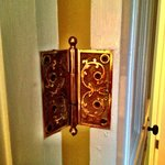 This door hinge was one of the period details that I liked.