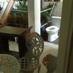 toilet on porch