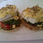 our delicious eggs benedict for breakfast