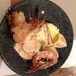 prawn and monkfish skewers....phenomenal!