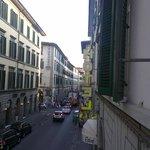 Via Nazionale dalla finestra (I piano) dell'Hotel