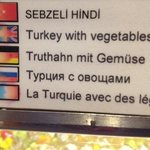 at least we had fun reading the meals tags in Russian