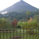View of Arenal Volcano from our hotel room.