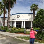 Shawnna in front of the American Police Hall of Fame