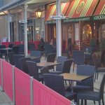 F&B's Plymouth Patio - Evening (tables emptied due to showers)