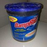 Tub of damp rid in bedroom