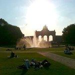 Parc du Cinquantenaire - fontana e Arco du Cinquantenaire