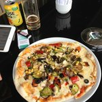 Fabulous Pizza at the cafe lobby lounge
