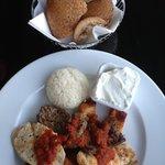 Turkish food at hotel cafe