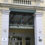 Entrance to Amalienhof Hotel
