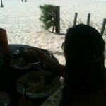 vista para a praia