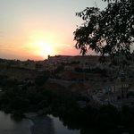 Anochecer visto desde la terraza del restaurante...espectacular
